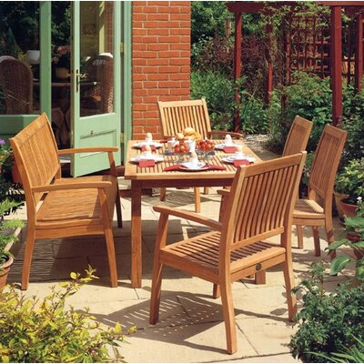 Barlow Tyrie Teak 7 Piece Extending Dining Set