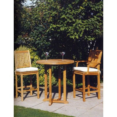 Barlow Tyrie Teak Monaco High Dining Side Chair with Cushion