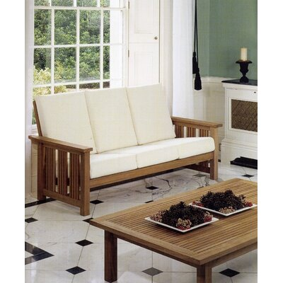 Barlow Tyrie Teak Mission Three Seater Settee (Indoor)