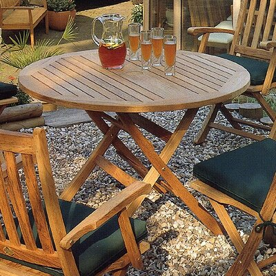 Barlow Tyrie Ascot Large Round Folding Dining Table
