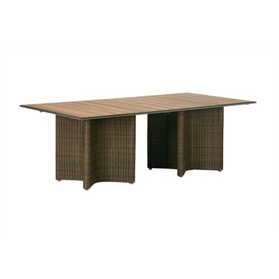 Barlow Tyrie Teak Savannah Woven Rectangular Dining Table