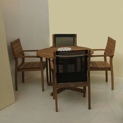 Barlow Tyrie Teak 5 Piece Patio Dining Set