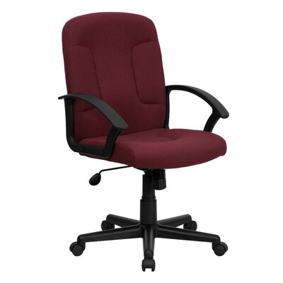 Flash Furniture Mid-Back Fabric Task Chair with Nylon Arms