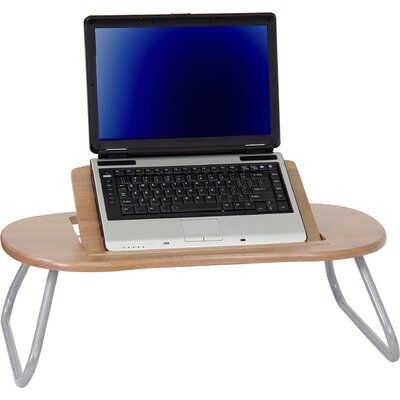 Flash Furniture Angle Adjustable Laptop Computer Table with Dark Natural Top