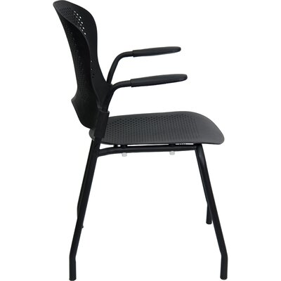 Flash Furniture Hercules Series Perforated Stacking Side Chair with Arms