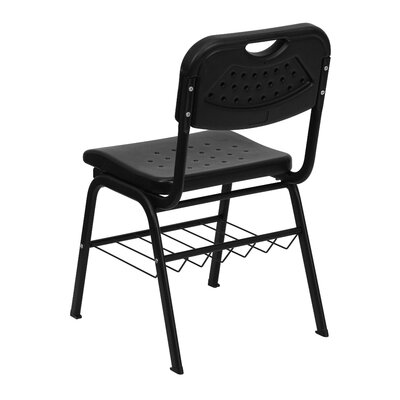 Flash Furniture Hercules Series Plastic Classroom Chair with Book Basket