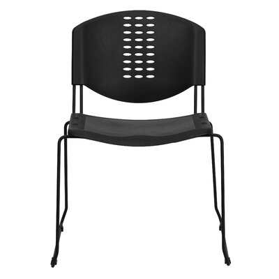 Flash Furniture Hercules Series Plastic Stack Chair with  Powder Coated Frame
