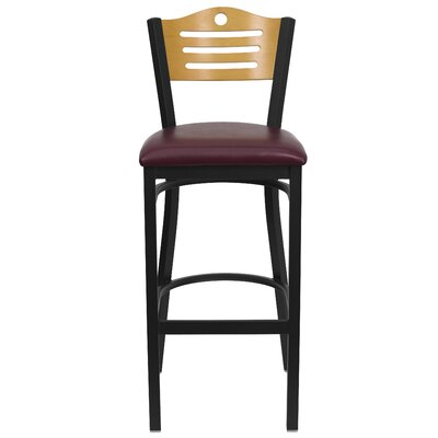 Flash Furniture Hercules Series Slat Back Metal Restaurant Bar Stool