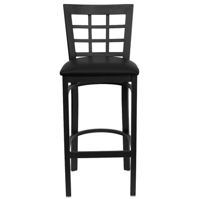 Flash Furniture Hercules Series Window Back Metal Restaurant Bar Stool