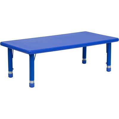 Flash Furniture Height Adjustable Rectangular Plastic Activity Table