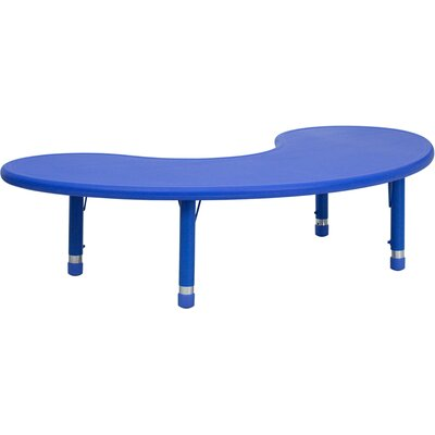 Flash Furniture Height Adjustable Half-Moon Plastic Activity Table