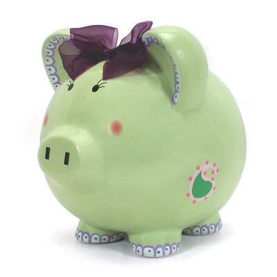 Child to Cherish Paisley Piggy Bank