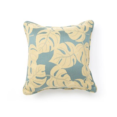Outdoor/Indoor Vibrant Tropicana Teal Pillow in Blue