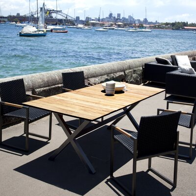 Harbour Outdoor Coast Teak Accent X Frame Dining Table