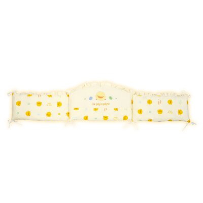 Piyo Piyo Seven Piece Crib Bedding Set in Yellow