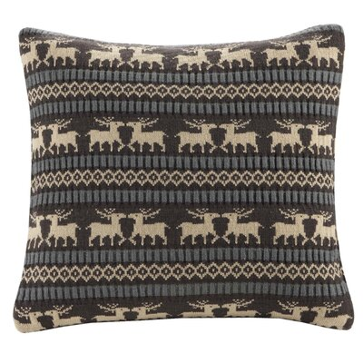 Woolrich Brownstone Knitted Square Pillow