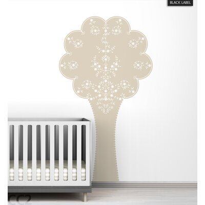 LittleLion Studio Vineyard Tree Black Label Wall Decal