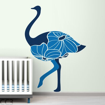 LittleLion Studio Fauna Floral Ostrich Wall Decal