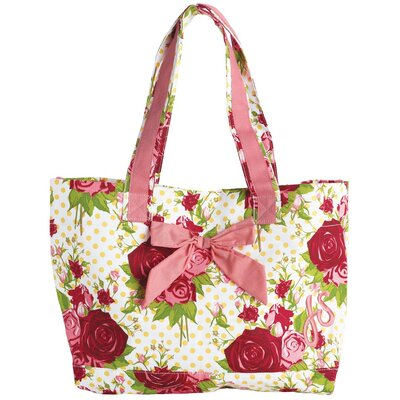 Jessie Steele Spring Floral Red Tote Bag with Bow