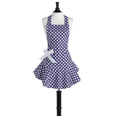 Purple and White Polka Dot Josephine Apron