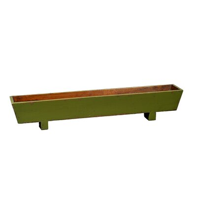 Rectangular Windowsill Planter with Wooden Legs