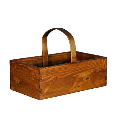 Square Fruit Bucket with Wooden Handle