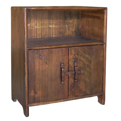 Vintage Dongbei-Style 2 Door Cabinet with Shelf