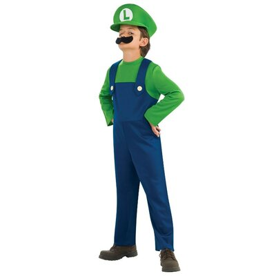 Super Mario Luigi Child Costume