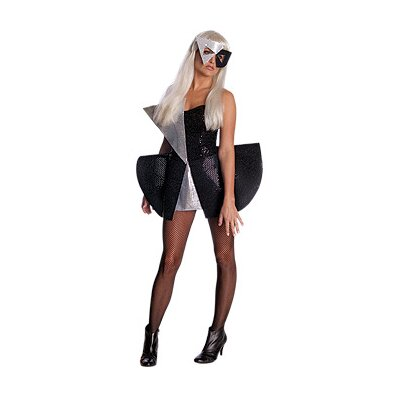 Lady Gaga Sequin Dress Adult Costume in Black