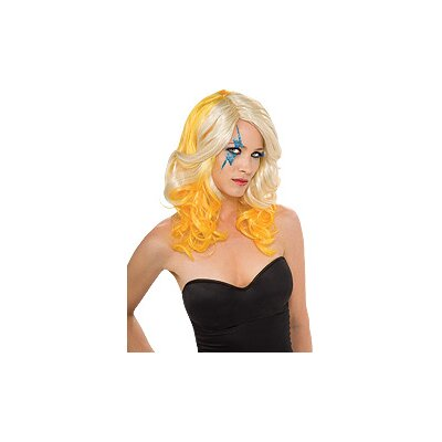Rubies Lady Gaga 2 Tone Wig in Blonde and Yellow