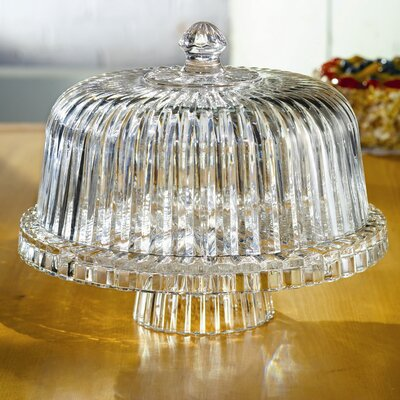 Crystal Clear Alexandria Domed Cake Plate