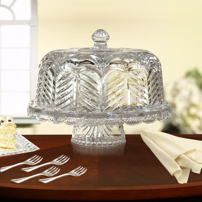 Fifth Avenue Crystal Portico Chip and Dip Domed Cake Plate
