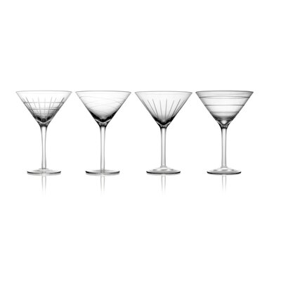 Fifth Avenue Crystal Medallion Martini Glass (Set of 4)