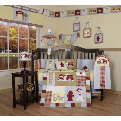 Geenny Boutique Fire Truck 13 Piece Crib Bedding Set