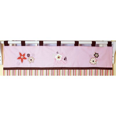 Geenny Floral Dream Cotton Blend Curtain Valance