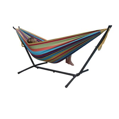 Two Person Fabric Hammock with Stand