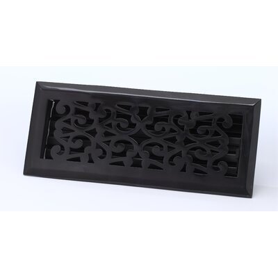 "Zoroufy 4"" x 10"" Scroll Floor Register"