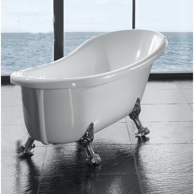 "Ove Decors Naples 66"" x 17"" Clawfoot  Slipper Tub"