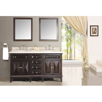 "Ove Decors Venice 60"" Double Bathroom Sink Vanity"