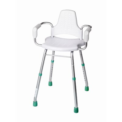 Modular White Shower Stool