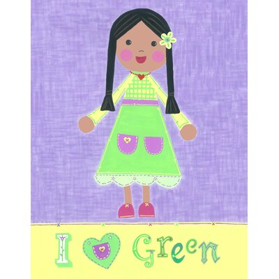 The Little Acorn Green Girl - Starla Wall Art
