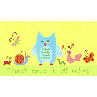 The Little Acorn Animals English Friends Come in All Colors Canvas Wall Art