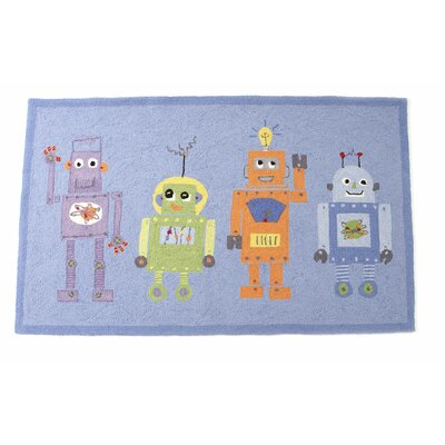 The Little Acorn 4 Robots Kids Rug
