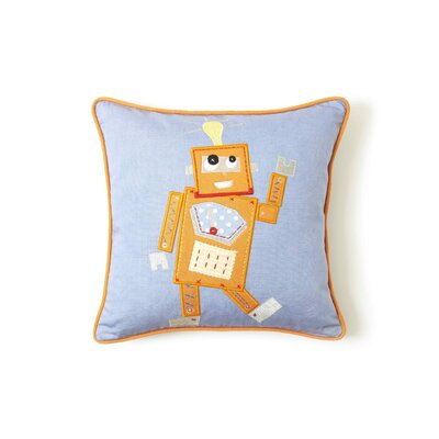 The Little Acorn Orange Robot Pillow