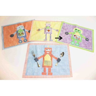 The Little Acorn Green Robot Placemat