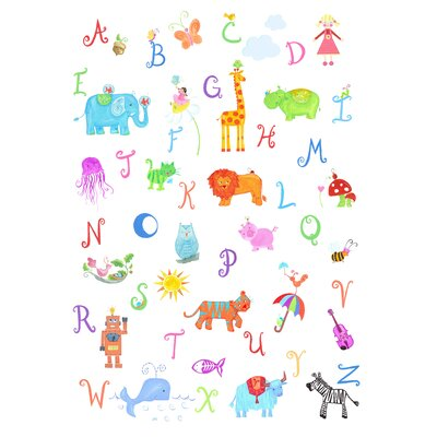 The Little Acorn Alphabet Adventure Wall Art