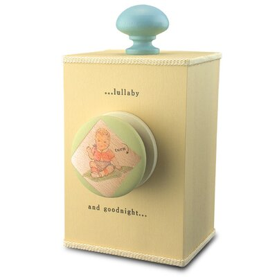 "Tree by Kerri Lee ""Brahms' Lullaby"" Wind Up Music Box in Distressed Yellow"
