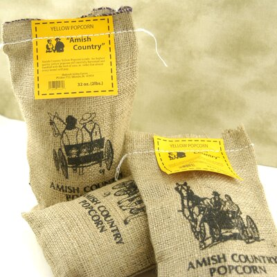 Wabash Valley Farms Big Gourmet Popping Corn with Burlap Sack