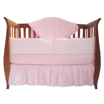 American Baby Company Heavenly Soft Four Piece Minky Dot Crib Bedding Set