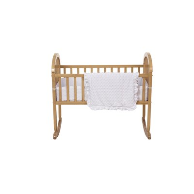 American Baby Company Heavenly Soft Three Piece Minky Dot Cradle Set